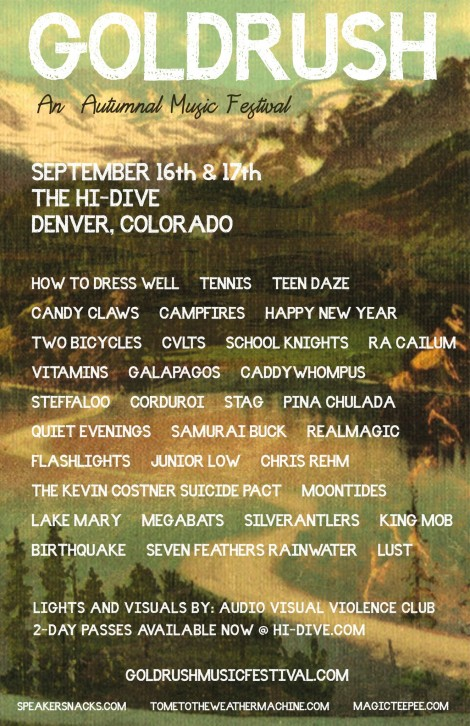 Goldrush Music Festival - An Autumnal Music Festival organized by music blogs